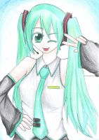 Miku Coloured by kure-pu