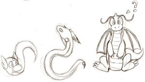 Drawing Day-Dratini And... by nikkihog