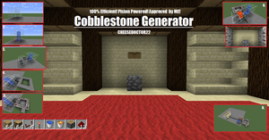 Tutorials! Number Three: Cobblestone Generator! by Cheesedoctor22