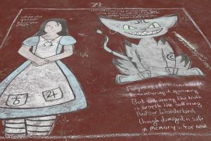 Alice and the Cat at ChalkFest Buffalo by IrisaNyira