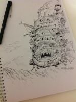 Howl's Moving Castle by artbox99