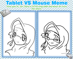 Tablet vs Mouse by TearOfARose