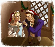 Balbaris and Ylan - Christmas trade by Mahogany-Fay
