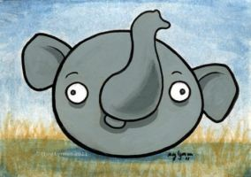 Angry Derp Elephant by MegLyman