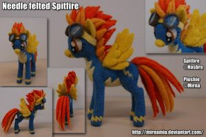 Needle felted Spitfire by Mirnamiu