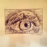 Lead eye sketch by MiCkIart14
