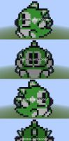Bub dead (Bubble Bobble Part 2 NES) in Minecraft by superslinger2007