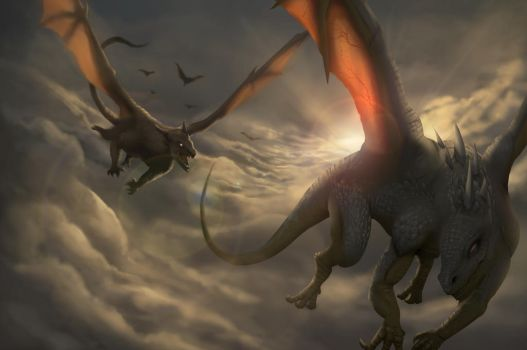Dragon Chase by arxers