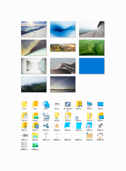 Windows10 Build 9926 icons and wallpapers by in-dolly
