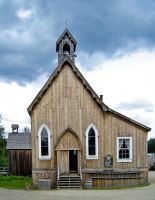 Barkerville Church by fourrpaws