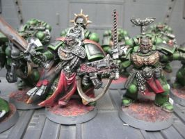 WH40K Salamanders Space Marines Bosses by raipo