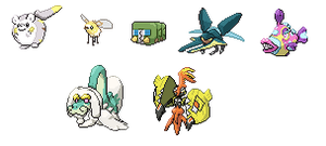 Pixel Art 7 New Pokemon, Pokemon Sun And Moon