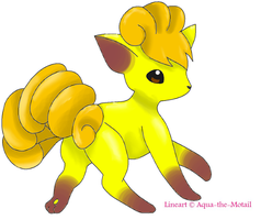 Shiny Vulpix :colored: by MistrissTheHedgehog