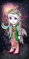 Whitemoon in pink and green by PrincesaSevilla
