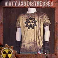 Radioactive Yellow Logo Tee F by DirtyandDistressed