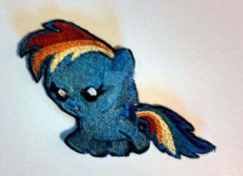 Baby Rainbow Dash Embroidered Patch by ravenlady13