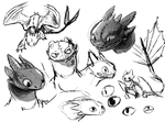 Toothless Doodles by Stalcry