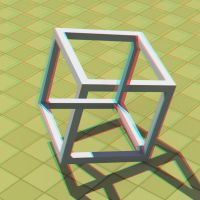View with Red and Cyan 3D glasses by davidbrinnen