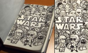 Star Wars Doodle by Malindovszky