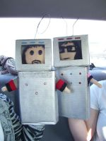 Bret and Jemaine Robots by ResidentofBoxFive