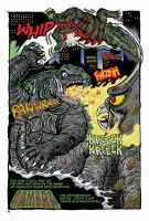 Gamera - Neverending Battle by fbwash