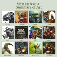 Summary of art 2011 by Silverfox5213