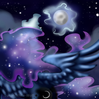 Moon rising by Lunar-White-Wolf
