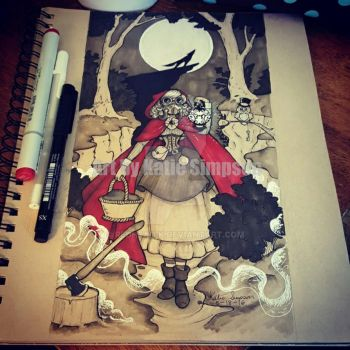Steampunk Little Red Riding Hood by Redhead-K