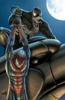 Spiderman Vs Venom by DAVID-OCAMPO
