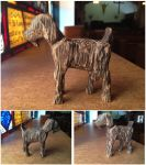 Goat in Black Palm Wood by xofox
