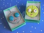 Gir Oreo Charm/Pendant-Polymer Clay-Invader Zim by ThePetiteShop