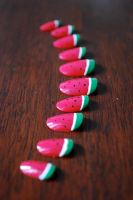 Watermelon Nails by MadHatterBata