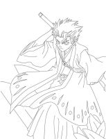 LineArt of Toshiro by Blood-Rabies