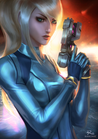 Samus Aran VERSION. 2 by raikoart