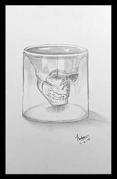 A Skull shot glass by Thahaseen