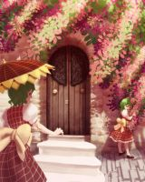 Bougainvillea and Sunflowers by soumakyo