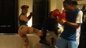 Balrog Vs. Cammy Cosplay by Captain-Warui