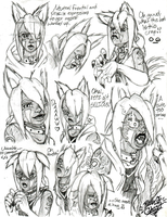 A bunch of Ren sketches by Pltnm06Ghost