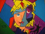 Seras Cubism Painted by DuckHunter111