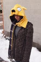 Jake the Dog Hood- purple plaid by bitesandkissesX