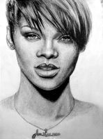 rihanna portrait by fatihsultan