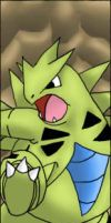 Tyranitar Bookmark by Icedragon300