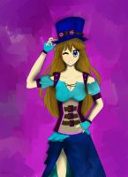 If Blue was a Steam Punk. by SolidadOfTheStars