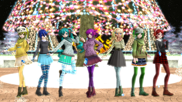 .:MMD Yandere Simulator Christmas::Winter Pack +DL by LetsGoStudiosArt