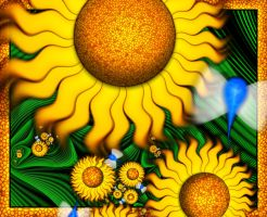 Sunflowered by FractalMic