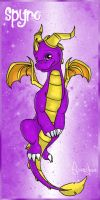 Chibi Spyro by SweetLhuna