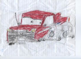 Christine and Herbie Cars style by ChevyRW