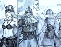 Viking Shieldmaidens: Fantasy vs Historical by Gambargin