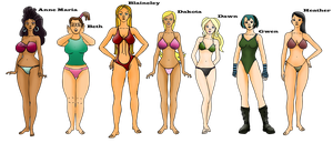 Total Drama Island Female Cast PT 1 by xZeroMan
