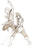 Aang and Sokka by ex-m